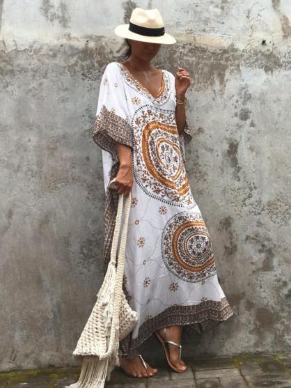 Floral Printed Loose Maxi Dress