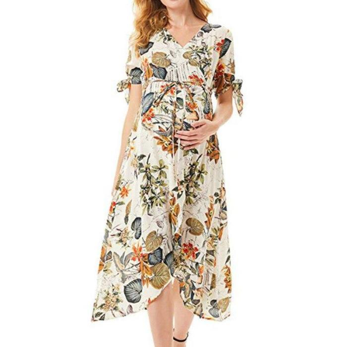 2020 Summer Casual Maternity Floral Dresses Nursing Pregnancy Dress Clothes Pregnant Women Sundress Mama Breastfeeding Dresses
