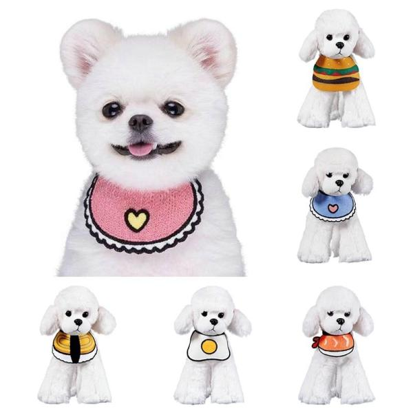 Cute Cat Dog Bandanas Bibs Scarf Collar Adjustable Pet Neckerchief Scarf Saliva Towel For Small Medium Large Dogs