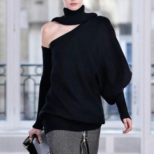 Fashion Design Solid Colour Loose Sweater