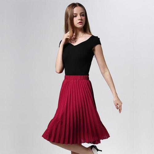 ANASUNMOON Women Chiffon Pleated Skirt Vintage High Waist Tutu Skirts Womens Saia Midi Rokken 2020 Summer Style Jupe Femme Skirt