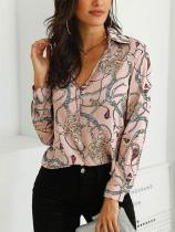 Casual Printed Colour Long Sleeve Shirt