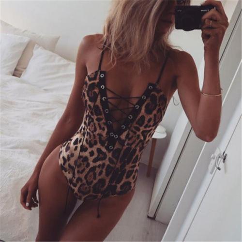 Sexy Leopard Style Bodysuit