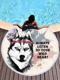 Wolf Head Printed Beach Mats