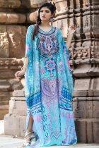 Maxi  Boho Dress, Beach Dress, Kaftan, Tribal in Blue