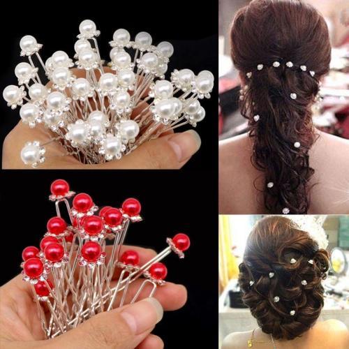 Hair Accessories Wedding Bridal Pearl Flower Crystal Rhinestone Hair Pins Clips Styling Braider Headwear Barrette Hairpins