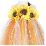 Halloween Kids Girls Sunflower Fall Autumn Pumpkin Color Holidays Tutu Dress