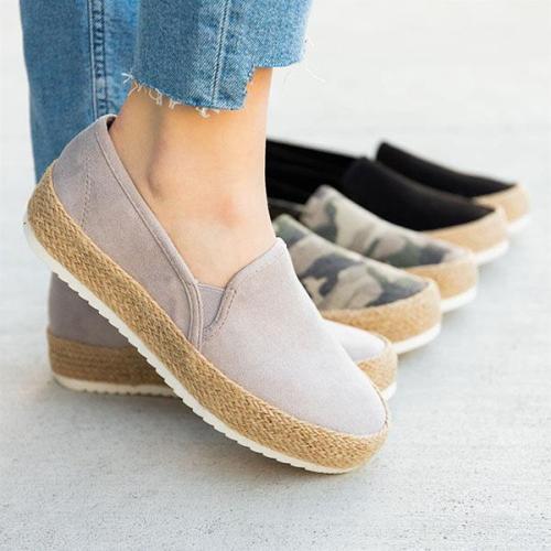 EBUYTIDE Perfect Espadrille Platform Sneakers