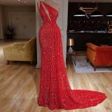 Sexy One-shoulder Waist Evening Dress