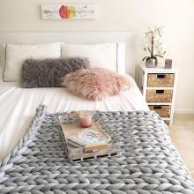 Super Thick Knitting Cotton Soft Chunky Yarn For DIY Handmade Knitting Crochet Big Warm Cotton Soft Crochet Carpet Hats