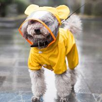 New Cute Dog Raincoat Small Dog Clothes Pet Costume Spring Reflective Dog Waterproof Clothes Dinosaur Design Rain Coat