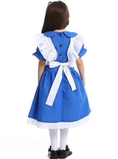 Halloween Princess Dress Alice Wonderland Maid Outfit