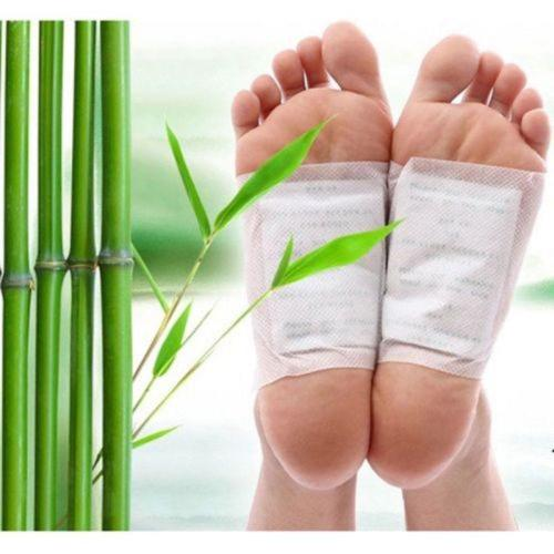 20pcs=(10pcs Patches+10pcs Adhesives) Detox Foot Patches Pads Body Toxins Feet Slimming Cleansing HerbalAdhesive