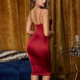 Sexy Sling Openwork Hip Bodycon Dress