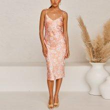 Fashionable summer pajamas style printed dress