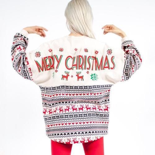 Christmas Printing Long Sleeves Hoodie