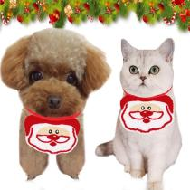 New Cat Dog Christmas Bandana Bibs  Collar Adjustable Pet Cute Neckerchief Scarf Waterproof Saliva Scarf Towel For Cat Dog Puppy