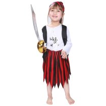 Kids Halloween Costume Girls Little Pirate Jack Sparrow Costume Baby Girl Anime Cosplay Halloween Fancy Dress Party Outfit