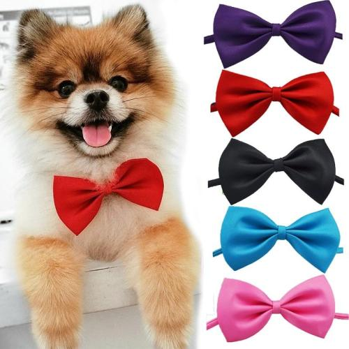 Fashion Pet Dog Cat Bow Tie Necklace Adjustable Strap for Cat Puppy Grooming Accessories Pet Dog Bow Tie Pet Supplies