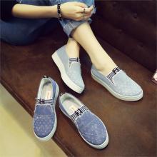 Women Denim Flats Casual Jeans Shoes Soft Flats Shoes