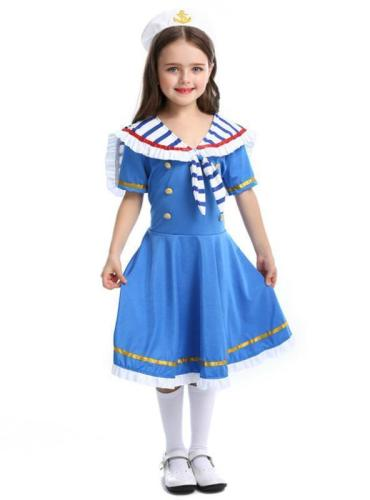 Halloween Children's British Royal Small Sea Uniform