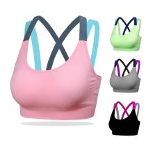 EBUYTIDE Sport Bra S M L Breathable Sport Top Cup A-D Sport Bra Fitness Cross Back Push Up Bra For Women Gym Running Yoga Bra Push Up