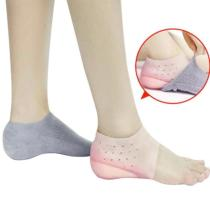 1Pair Invisible Height Increased Insole Silicone Heel Socks for Women Men insoles 2-4cm insoles for plantar fasciitis shoe sole