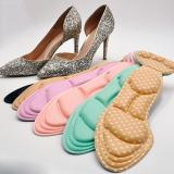 1 Pair Women Insole Pad Breathable Anti-slip Inserts High Heel Insert Pad Foot Heel Protector Shoes Accessories