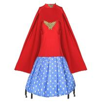 Girls Halloween Superhero Costume Wonder Woman Superwoman Cosplay Party Costume