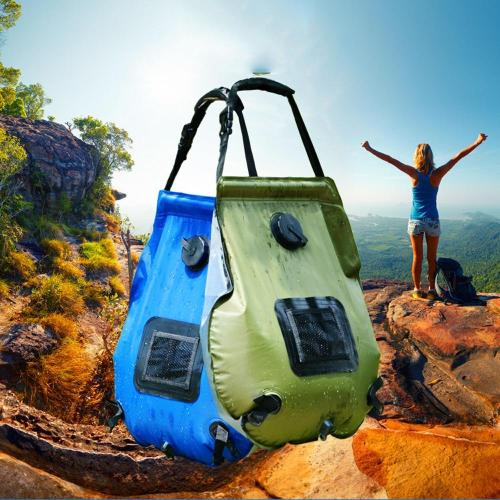 Water Bags For Outdoor Camping Hiking Solar Shower Bag 20L Heating Camping Shower Bag Hose Switchable Shower Head