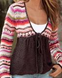 V Neck Tribal Print Top