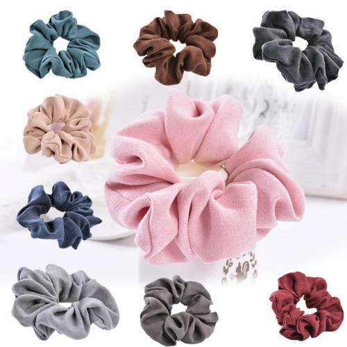 EBUYTIDE Light Color Women Hair Accessories Brand Ladies Hair Tie Scrunchie Ponytail Hair Female Girl Holder Rope  CHD007