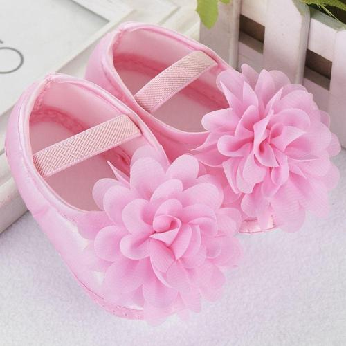 Hot Sale Toddler Baby Girl Chiffon Flower Elastic Band Newborn Walking Shoes Baby Girls Shoes Leisure First Walk Shoes Summer 12