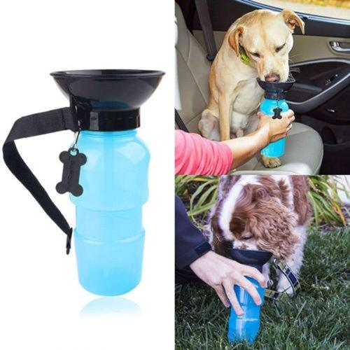 500ML New Pet Dog Water Bottle Portable Drinking Water Feeder For Outdoor Dogs Travel Water Bottle Dogs Water Bowl Pet Supplies