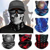 3D Camouflage Skull Solid Bandana Buffs Neck Gaiter Headband Cycling Fishing Balaclava Mask Scarf Bandana Femme Outdoor Headwear