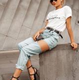 Fashion Slim Fit Removable Stretch Jeans