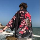 Japanese kimono cardigan men haori yukata male samurai costume clothing kimono jacket mens kimono shirt yukata haori