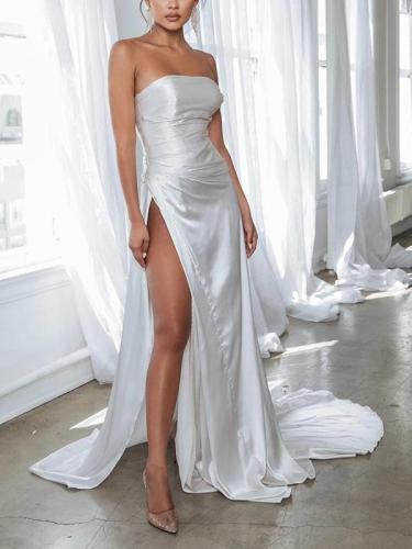 Sexy one-Shoulder Split Bodycon Dress