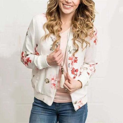 Fashion Casual Printed Bomber Jacket Loose Overcoat
