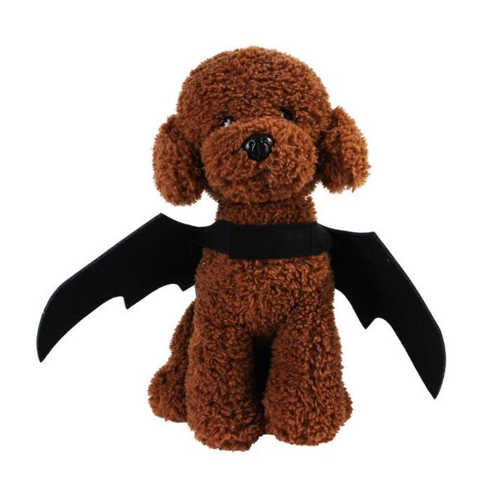2020 New Pet Dog Cat Bat Wing Cosplay Prop Halloween Bat Fancy Dress Costume Outfit Wings Cat Costumes Photo Props Headwear
