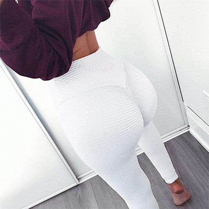 Pure Color High Waist Women Skinny Sports Yoga Legging