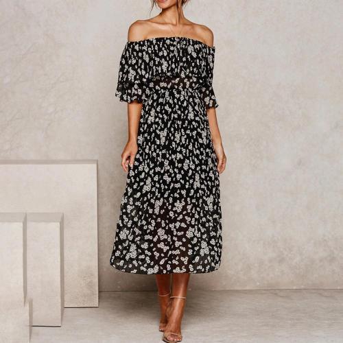 Fashion word collar layered dress