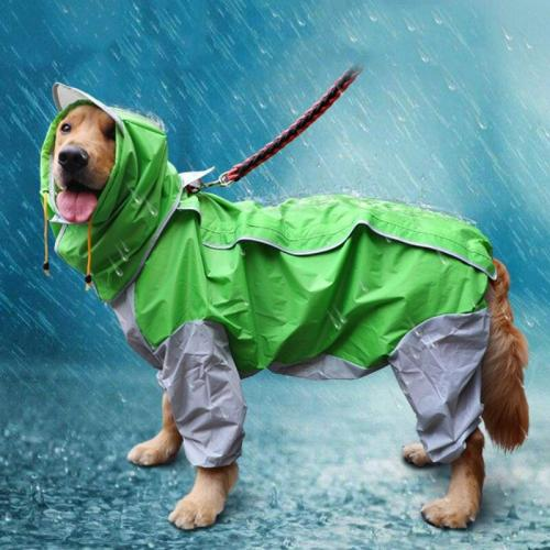 Large Dog Raincoat Waterproof Clothing For Big Dog Clothes Dog Rain Jacket Jumpsuit Samoyed Labrador Golden Retriever Husky Coat
