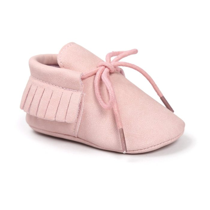 Baby Shoes Newborn Infant Boy Girl Classical Lace-up Tassels Suede Sofe Anti-slip Toddler Crib Crawl Shoes Moccasins 10-colors