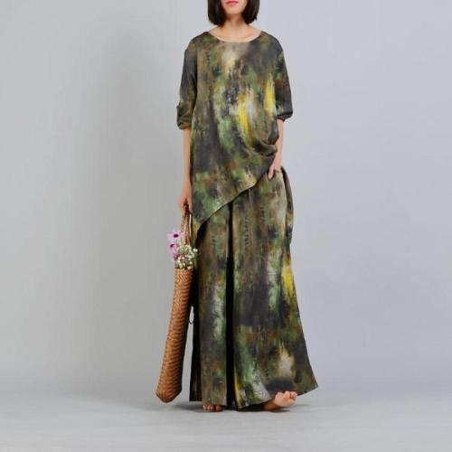 Two Piece Casual Silk and Linen Suit