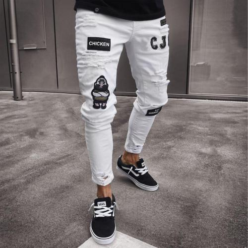 Hip-Hop Tight-Fitting  Narrow-Necked Slim Pants
