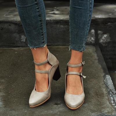 Women Buckle Strap High Heel Sandals