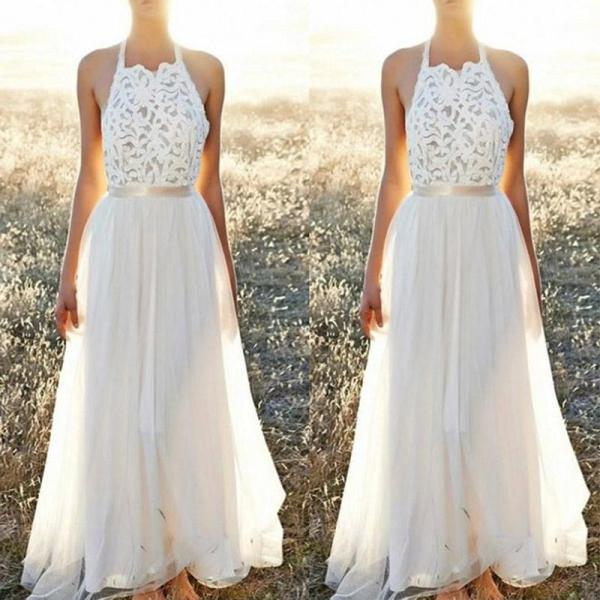 Fashion Sexy Backless Lace Evening Dress