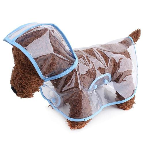 Dog Raincoat Teddy Small Dog Puppy Transparent Plastic Waterproof Fashion Poncho Pet Raincoat Pet Supplies