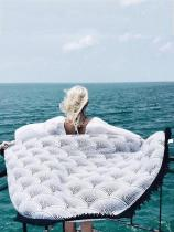 Popular Bohemia Black Tassels Round Beach Mat Yoga Mat